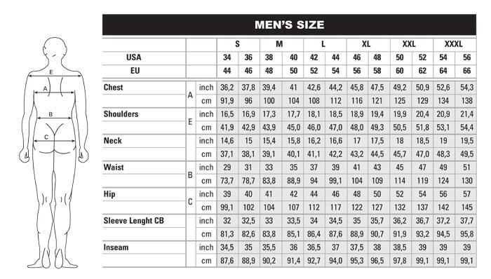 European MenS Clothing Size Conversion  HttpWww