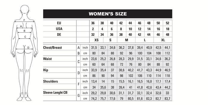 BRA RECOMMENDATIONS (Based on body size and activity)* XS S M L XL; ASICS® Lock Zip Bra: 32C, 32D: 34C, 34D: 36C, 36D: 38C, 38D: 40C, 40D: ASICS® Adjust Bra: 32B, 32C.