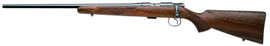 CZ Model 452 American Left Hand Rimfire Rifle 02074 17 HMR 22 5 Bolt Action Turkish Walnut Stock Black Chrome Finish 5 Rds