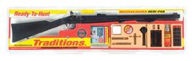 Traditions PA Pellet Flintlock Muzzleloader R38000850 50 CAL Black Powder Black Synthetic Blue Flintlock