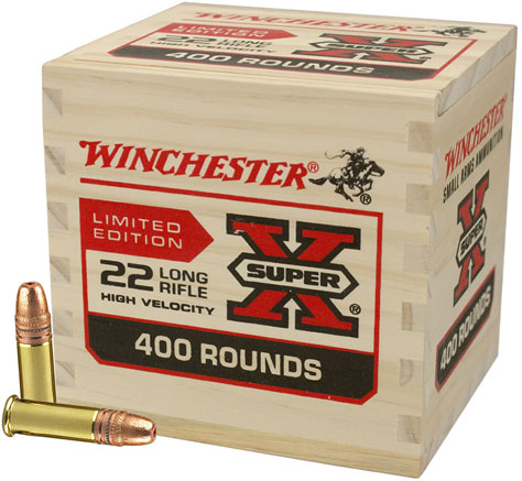 winchester super x limited edition rimfire ammunition 22lr400wb 22