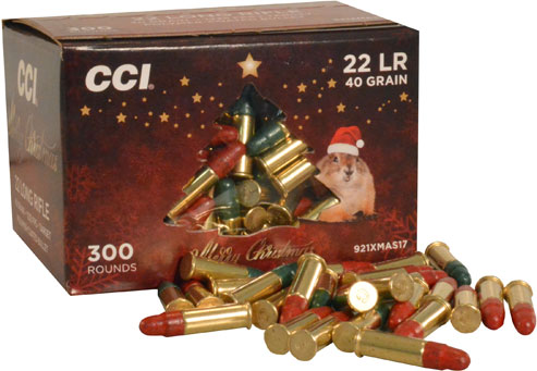 CCI Christmas Pack Rimfire Ammunition 921XMAS17, 22 Long Rifle, Round Nose  (RN), 40 GR, 1235 fps, 30 - Able Ammo