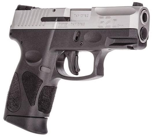"Millennium Auto Sales >> Taurus G2C Semi-Auto Pistol 1G2C93912, 9mm, 3.2"", Black Polymer Grip/Frame, Stainless Finish, 12 ..."