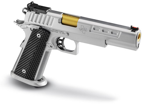 STI DVC Classic 1911 Pistol 10-300345, 9mm, 5 4 inch, VZ Operator II Grips,  Hard Chrome Finish, 10 Rd - Able Ammo