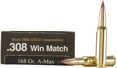 Black Hills Gold Rifle Ammunition 308BHGN13, 308 Winchester, Hornady ELD-X,  178 GR, 2650 fps, 20 Rd/ - Able Ammo