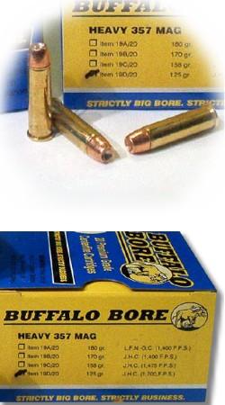 buffalo bore handgun ammo 19d 20 357 magnum jacketed hollow cavity 125 gr 1700 fps 20 rd. Black Bedroom Furniture Sets. Home Design Ideas