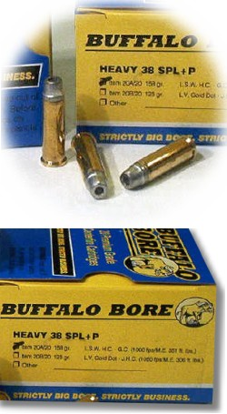 Buffalo Bore Handgun Ammo 20A/20, 38 Special +P, Lead Wadcutter Hollow  Point Gas-checked, 158 - Able Ammo