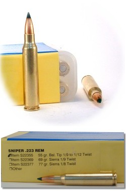 Buffalo Bore Sniper Rifle Ammo S22355/20, 223 Remington, Polymer Tip Boat  Tail, 55 GR, 3500 fp - Able Ammo