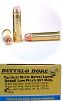 Buffalo Bore Handgun Ammo 19G/20, 357 Magnum, Jacketed Hollow Point (JHP),  125 GR, 1225 fps, 2 - Able Ammo