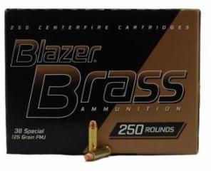 cci blazer brass handgun ammunition 52041 38 special full metal