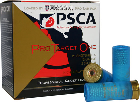 Fiocchi PSCA Pro Target One Shotshell 12PSCA78, 12 Gauge, 2-3/4 inch, 1 oz,  1350 fps, #8 Nickel Plated, - Able Ammo