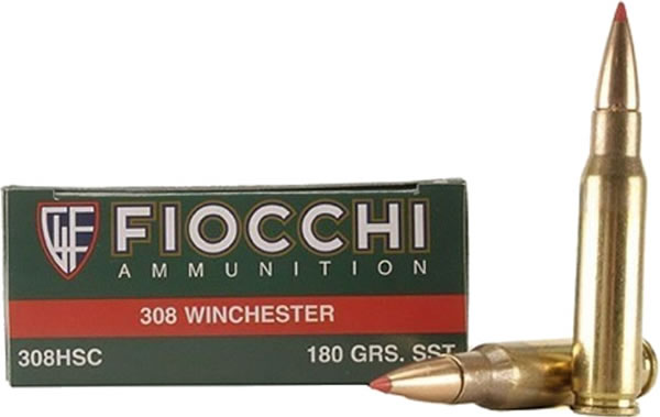 Fiocchi Extrema Hunting Rifle Ammo 308HSC, 308 Winchester, SST, 180 GR,  2620 fps, 20 Rd/bx - Able Ammo