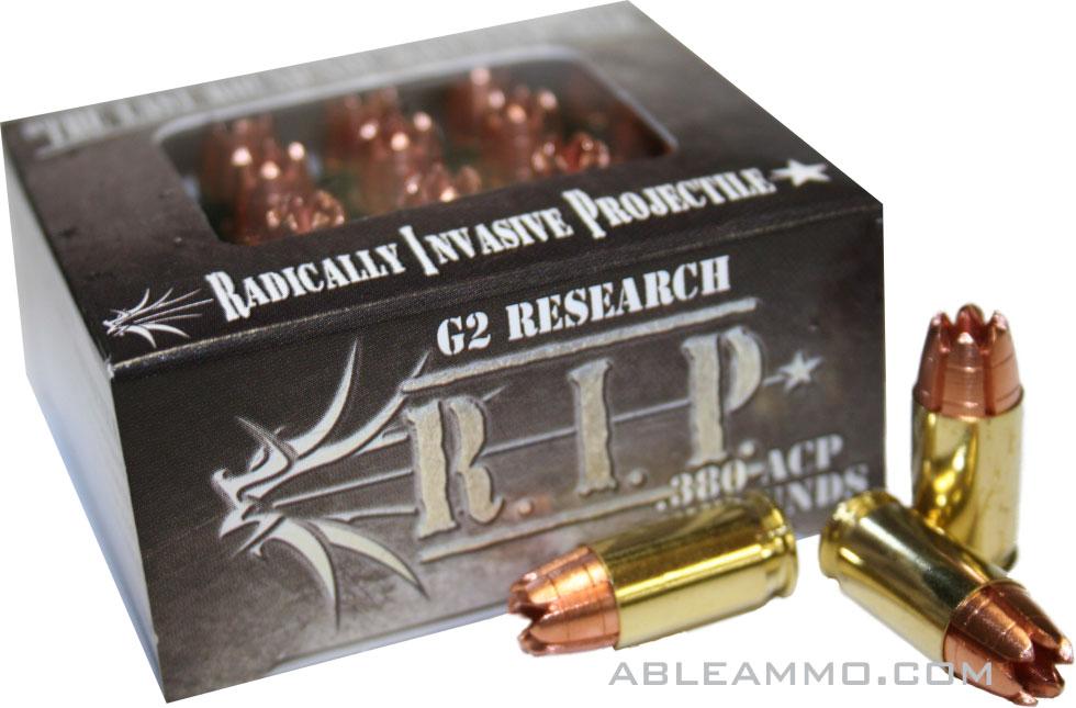 G2-Research-R.I.P. Pistol Ammunition G2RIP380ACP, 380 ACP ...