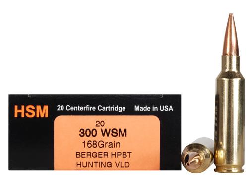 hsm trophy gold rifle ammo 300wsm168vld 300 winchester short magnum