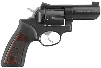 Ruger GP100 Wiley Clapp Revolver 1753, 38 Special, 3 in, Rubber/Wood Grips,  Matte Blued Finish, 6 rd - Able Ammo