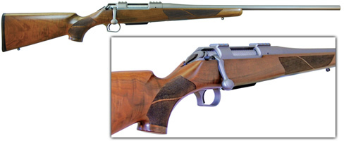 Thompson Center Icon 7mm-08 Rifle 5531, 24 in, Wood Stock, Stainless Finish  - Able Ammo