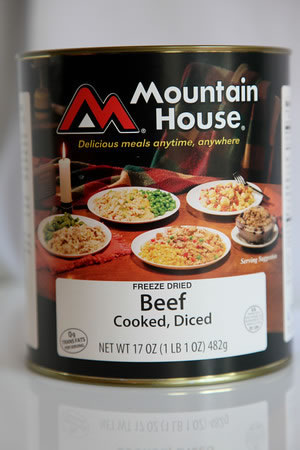 Mountain House Diced Beef 10 Can Freeze Dried Meat 30122