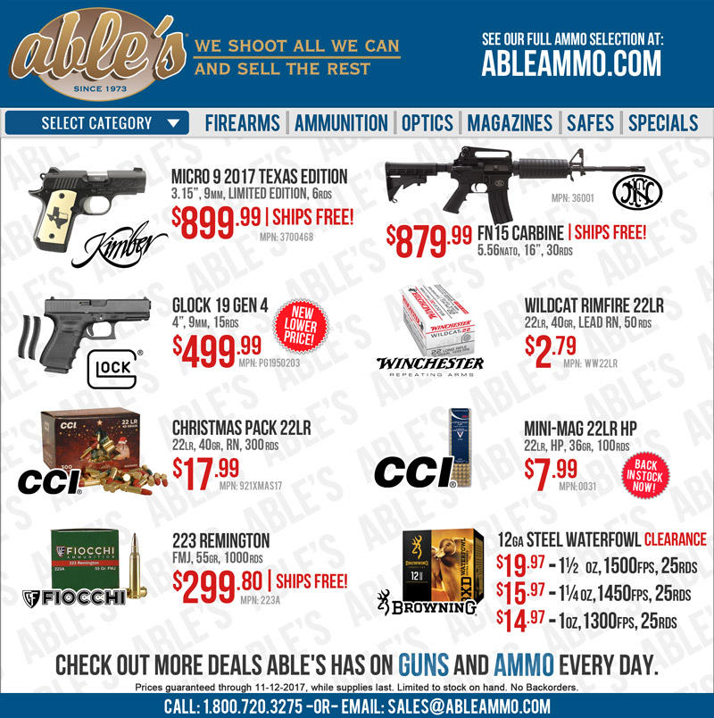 Message not loading? Click here to see great deals from Able's.