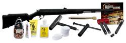 TCA OMEGA Z5 PREMIUM PACK Muzzleloader 8886 50 CAL Black Powder Synthetic Blue Lever