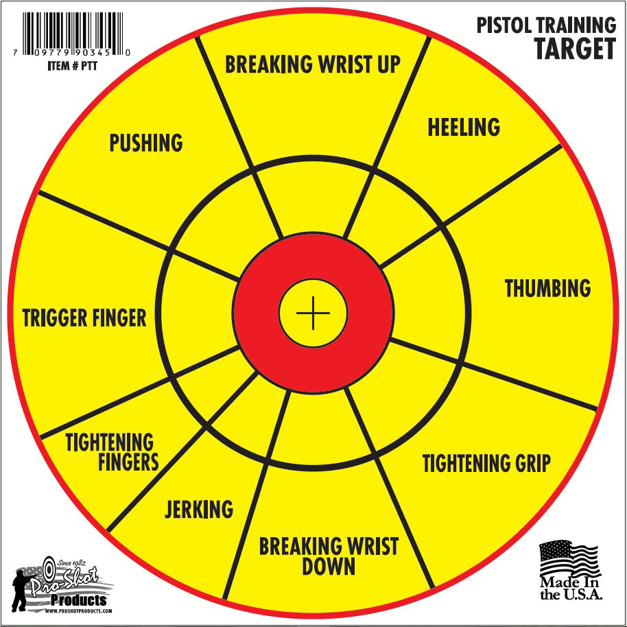 Pro Shot Products Pistol Training Target, 6 Pack (PTT) - Able Ammo