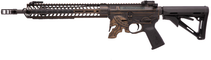 Spike's Tactical Spartan Rifle STR5610-M2R, 5 56mm NATO, 14 5 inch w/Pinned  Brake, Chrome Lined, Battlew - Able Ammo