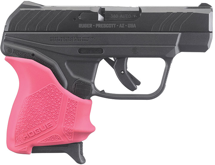 Ruger LCP II Pistol 3777, 380 ACP, 2 75 inch, Pink Hogue Grip, Black  Finish, 6 Rds - Able Ammo