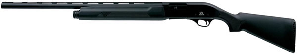 Akkar 600 Left-Hand Semi-Auto Shotgun 65003, 12 Gauge, 28 in, 2.75 in Chmbr, Synthetic Stock, Black Finish