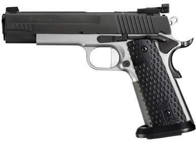 Sig 1911 Max Pistol 191145MAXM, 45 ACP, 5 in, Hogue G10 Grip, Two-Tone  Finish, Adj Sights, 8 Rd - Able Ammo