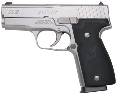 Kahr Model P9 Double Action Pistol K9093NA, 9mm, 3-1/2 inch, Synthetic  Grip, Stainless Finish, 7 Rd - Able Ammo