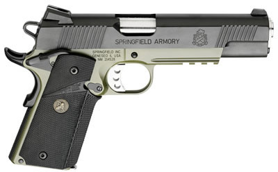 Springfield Operator Series 1911-A1 Pistol PX9105MLP, 45 ACP, 5 inch,  Pachmayr Rubber Grip, Olive Drab/ - Able Ammo