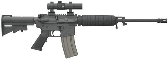 Bushmaster Carbon 15 M4 AR-15 Rifle 90866, 223 Remington/5 56 NATO, 16  inch, Collapsible Stock, Black Fi - Able Ammo