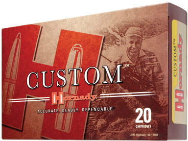 Hornady Rifle Ammo 8098, 308 Winchester, Boat Tail Soft Point (SP), 165 GR,  2700 fps, 20 Rd/bx - Able Ammo