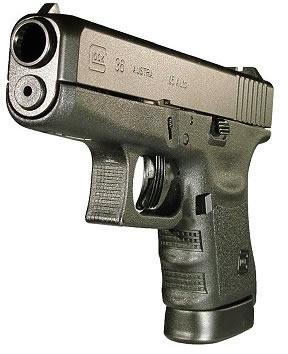 Glock Model 36 Subcompact Slimline Pistol PI36502, 45 ACP, 3 78 in, Polymer  Grip, Black Finish, Fix - Able Ammo