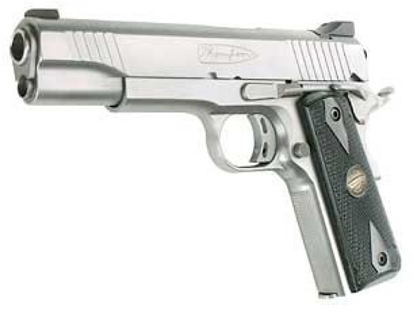 Auto Ordnance Thompson 1911 Semi-Auto Pistol 1911C, 45 ACP, 5 inch,  Checkered Laminate Grip, Stainless F - Able Ammo