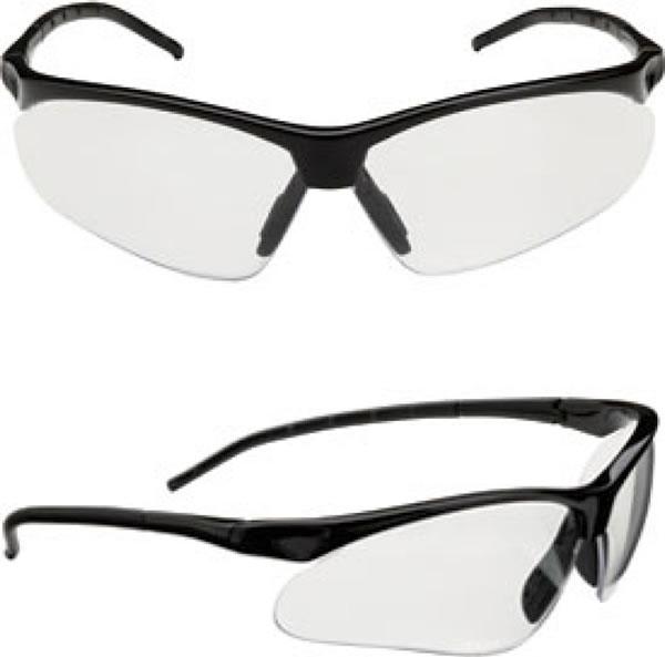 Champion Half-Frame Ballistic Glasses Smoke Mirror Lens ...