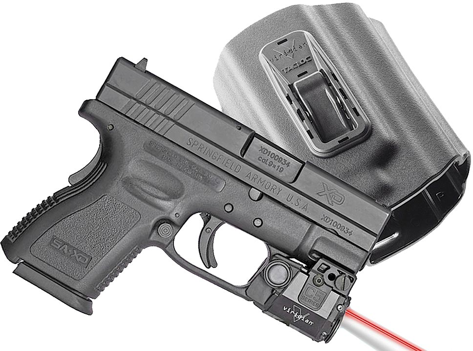 Viridian C5LR Red Laser Sight/ Holster Package C5LRPACKC3, Fits Springfield  XD/XDM - Able Ammo