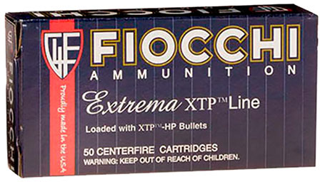 Fiocchi Extrema Handgun Ammo 9XTPC, 9mm, XTP Jacket Hollow Point (HP), 124  GR, 1100 fps, 50 Rd - Able Ammo