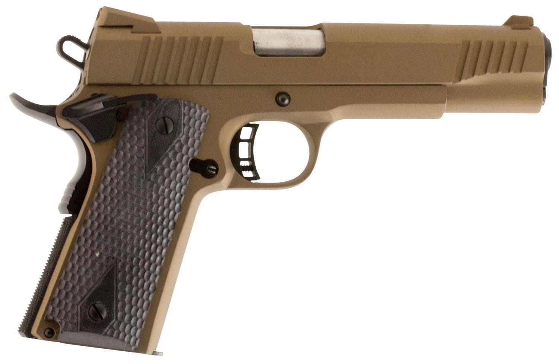 Howa Citadel M-1911 OfficerSingle Action Pistol C9MMCS148H00, 9mm, 3 5  inch, Hogue Grips, Burnt Bronze C - Able Ammo