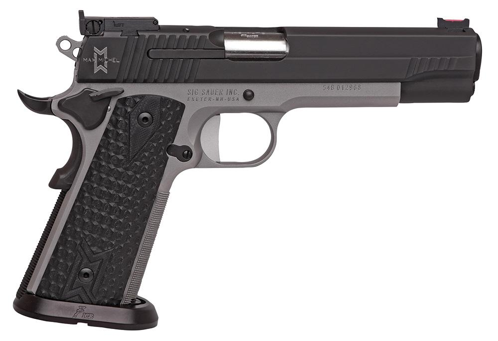 Sig 1911 Max Pistol 191140MAXM, 40 S&W, 5 0 inch, Black Hogue Custom G10  Grips, Two-Tone Finish, 8 Rds - Able Ammo