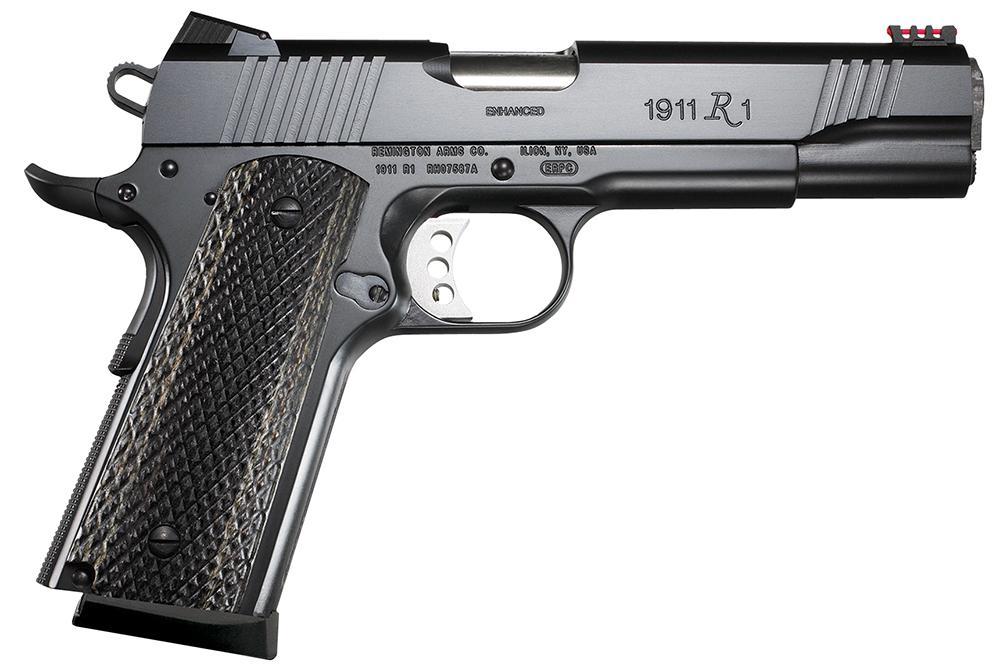 syksyn kengät laatu esittelijänä Remington R1 Enhanced Commander Pistol 96359, 45 ACP, 4.25 inch, Wood Grip,  Black Finish, 8 Rds - Able Ammo