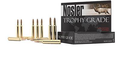 Nosler Trophy Grade Rifle Ammunition 60035, 28 Nosler, AccuBond, 160 GR,  3300 fps, 20 Rd/Bx - Able Ammo