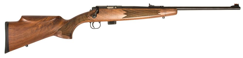 Crickett Single Shot Bolt Action Rifle 20020, 22 Long Rifle, 16 1 inch,  Classic Walnut Stock, Blued Fini - Able Ammo