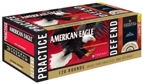 Federal Pistol Ammunition Combo Pack PAE9124HST, 9mm, FMJ/HST JHP, 124 GR,  1150 fps/1150 fps, 120 Rd - Able Ammo