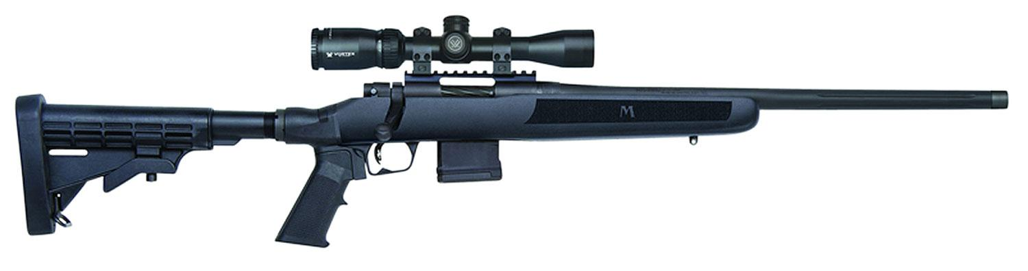 Mossberg MVP Flex Rifle Scope Package 27980, 223 Remington/5 56 NATO, 18 5  inch, 6-Position Black Stock, - Able Ammo