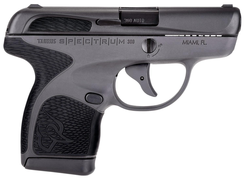 Taurus Spectrum Pistol 1007031201, 380 ACP, 2 8 inch, Black Polymer Grips,  Gray Finish, 6/7 Rds - Able Ammo