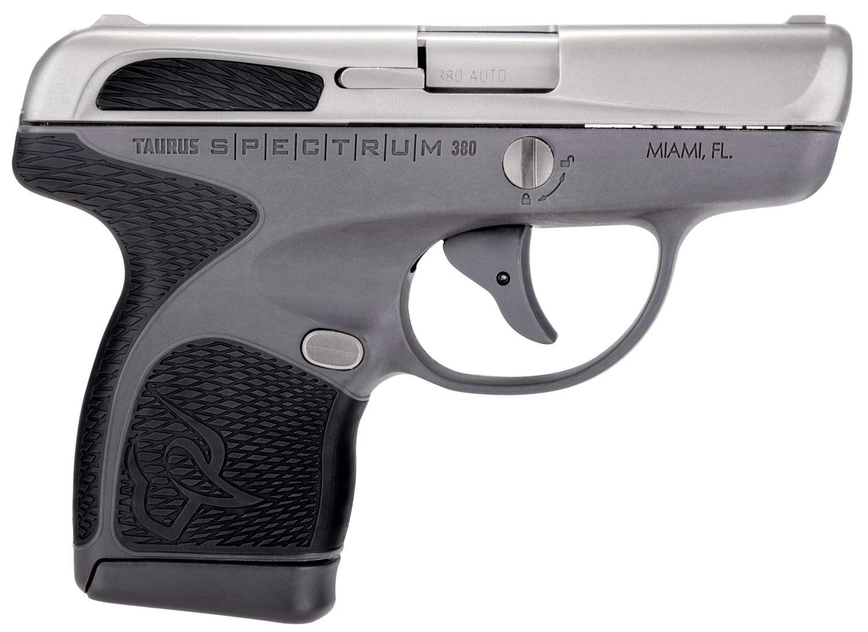 Taurus Spectrum Pistol 1007039201, 380 ACP, 2 8 inch, Black Polymer Grips,  Gray Finish, 6/7 Rds - Able Ammo