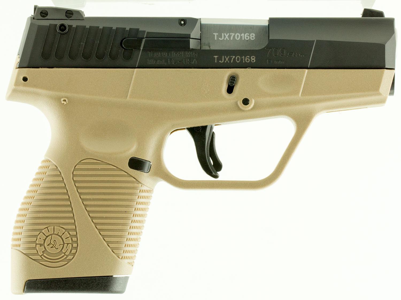 709 slim 9mm pistol - Taurus 709 Slim Pistol 1709031fde 9mm Luger 3 2 Fde Polymer Grip Frame Fde Finish 7 Rds Able Ammo