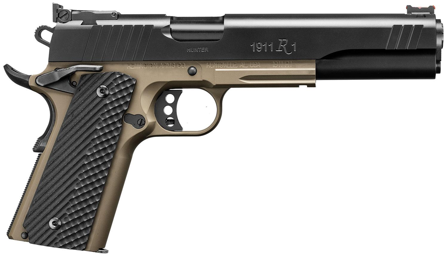 Remington 1911 R1 Hunter Pistol 96305, 10mm, 6 inch, Black G10 Grips, Flat  Dark Earth Cerakote Finish, 8 - Able Ammo