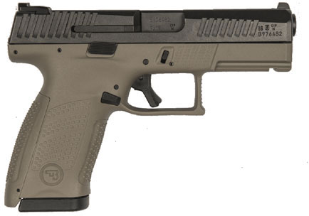 CZ-USA P10 C Pistol 91532, 9mm, 4 inch, Polymer Grips, FDE Finish, 15 Rds -  Able Ammo