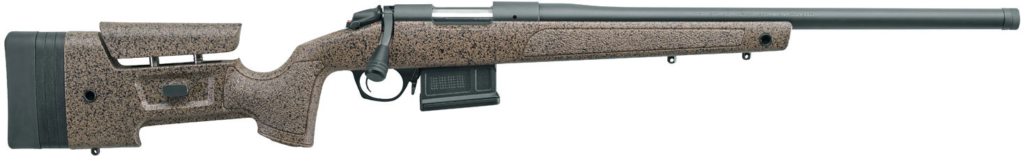 Bergara HMR Bolt Action Rifle B14S356, 450 Bushmaster, 20 inch, Brown  Stock, Blued Finish, 5 Rds - Able Ammo